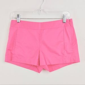 J Crew Short Shorts Bubble Gum Pink100% Cotton 0